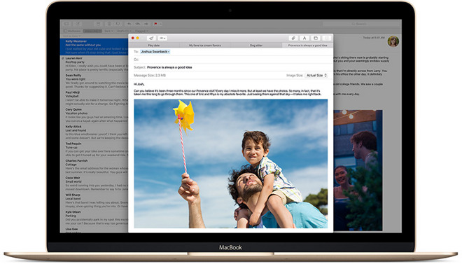 Apple Mail on MacBook Pro
